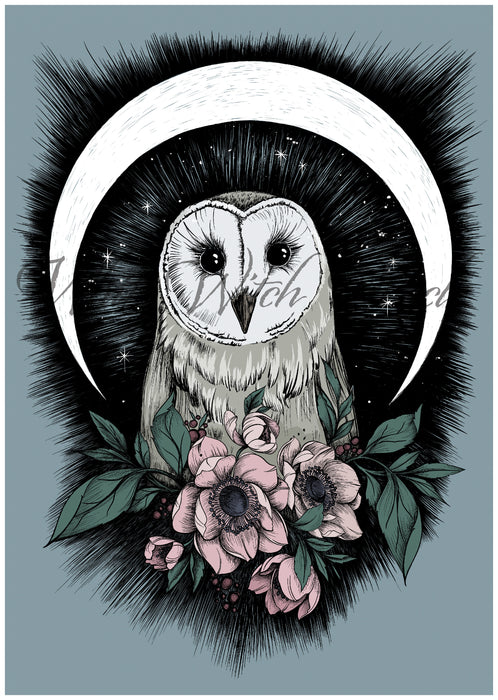 Magical Barn Owl Art Print