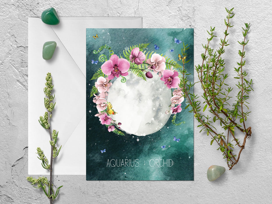 Aquarius Zodiac Greeting Card