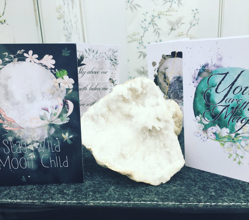 Stay Wild Moon Child greeting card.