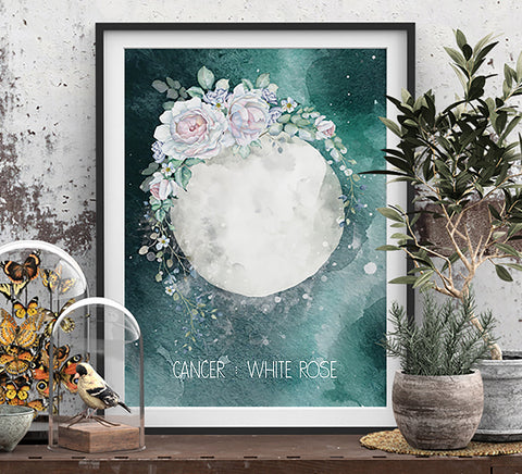 Cancer zodiac print