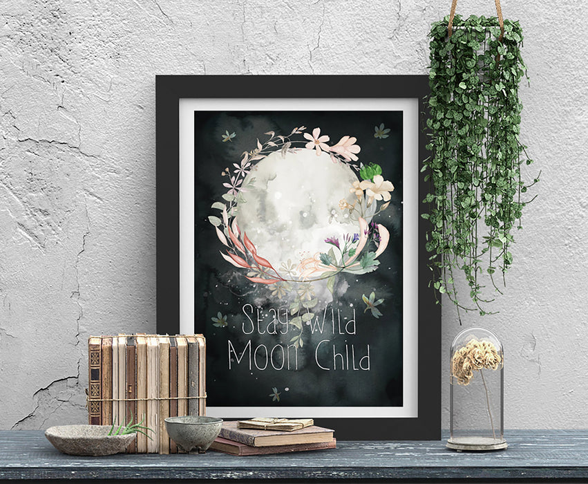 Stay Wild Moon Child Art Print