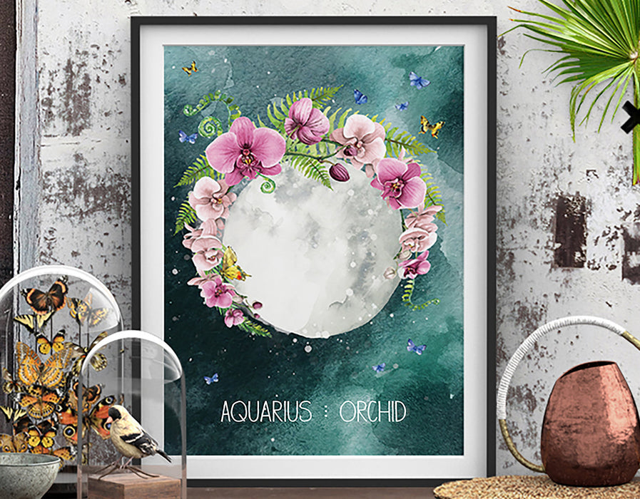 Aquarius Zodiac Art Print