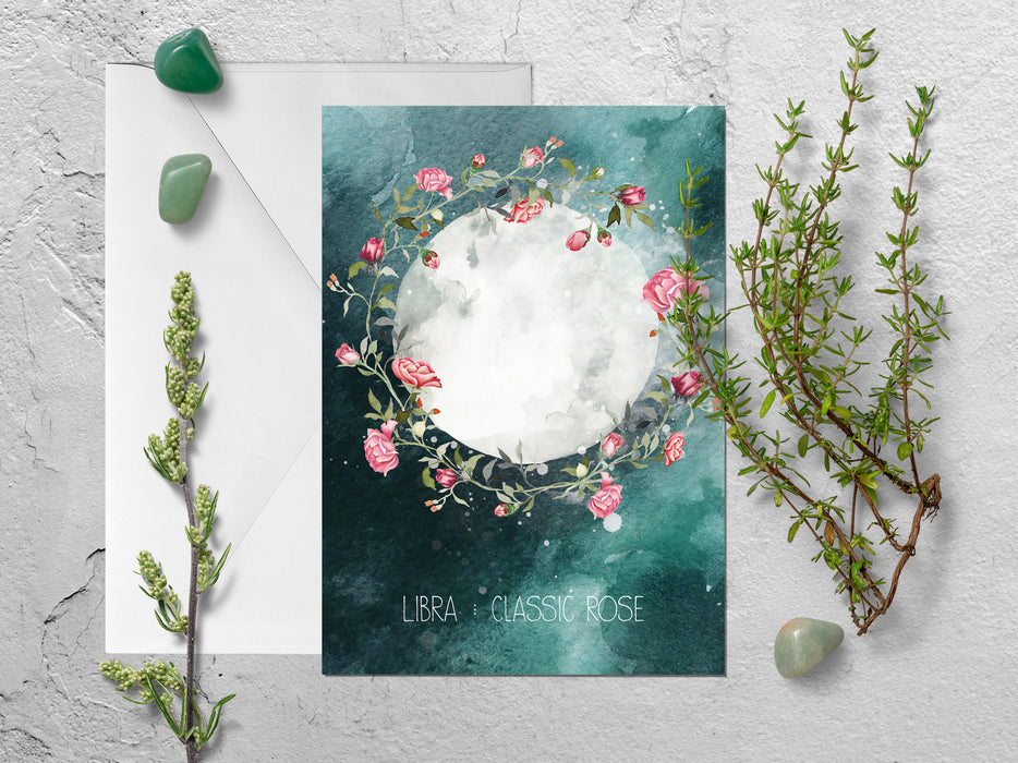 Libra Zodiac Greeting Card