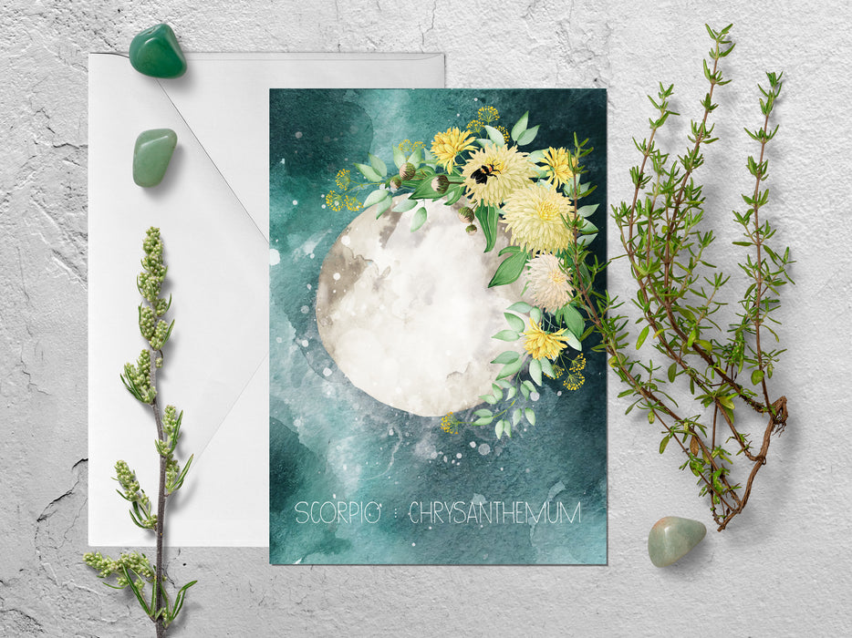 Scorpio Zodiac Greeting Card