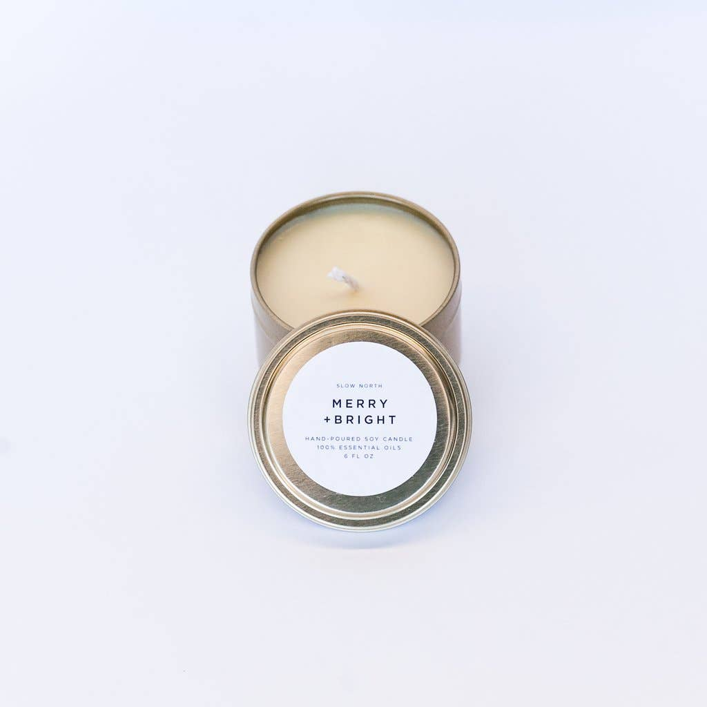 Travel Tin Candle Merry + Bright | Slow North