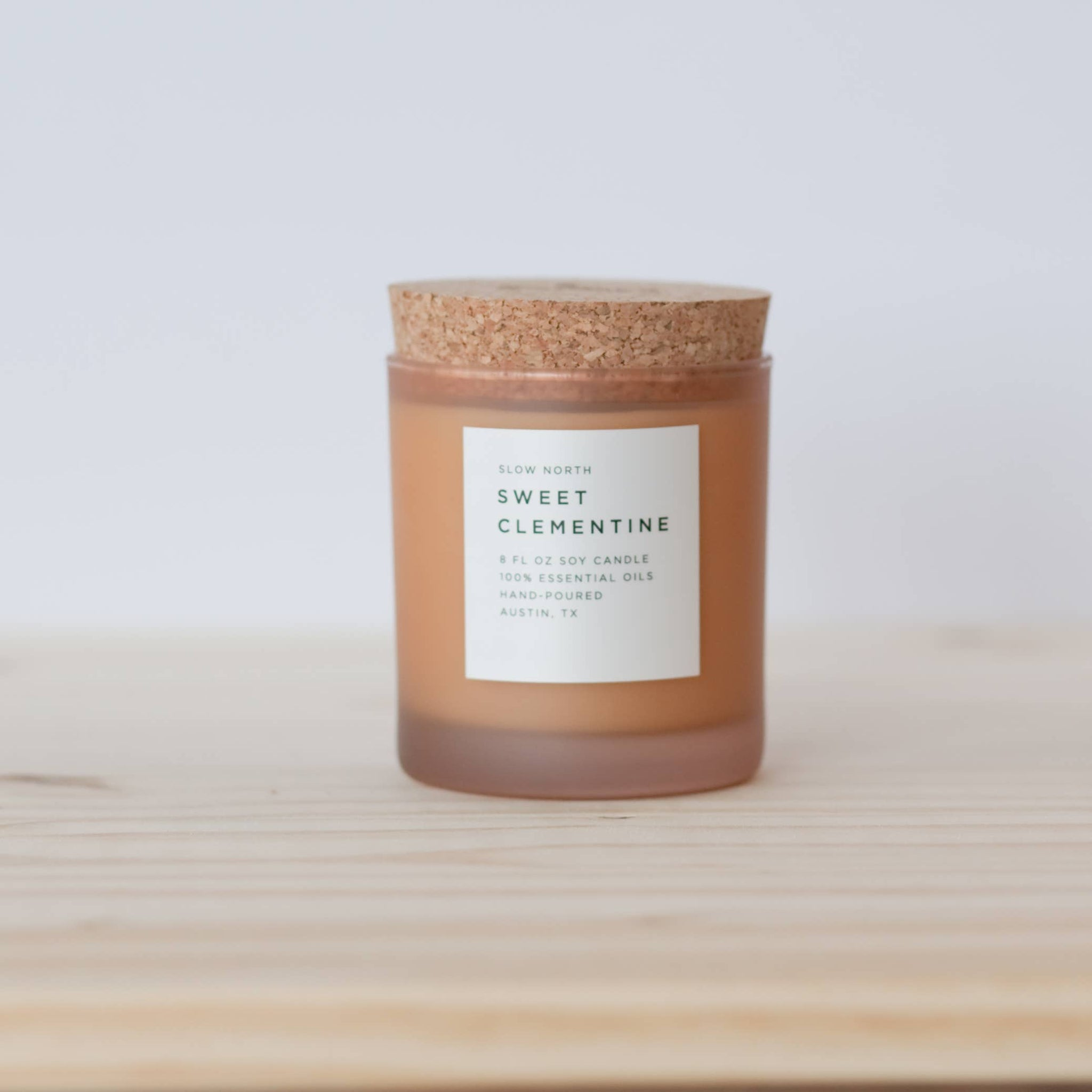 Sweet Clementine Frosted Candle | Slow North