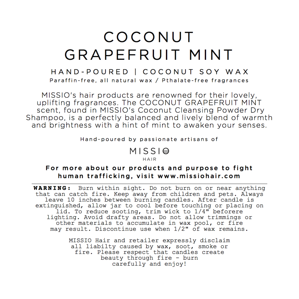 Coconut Grapefruit Mint Candle