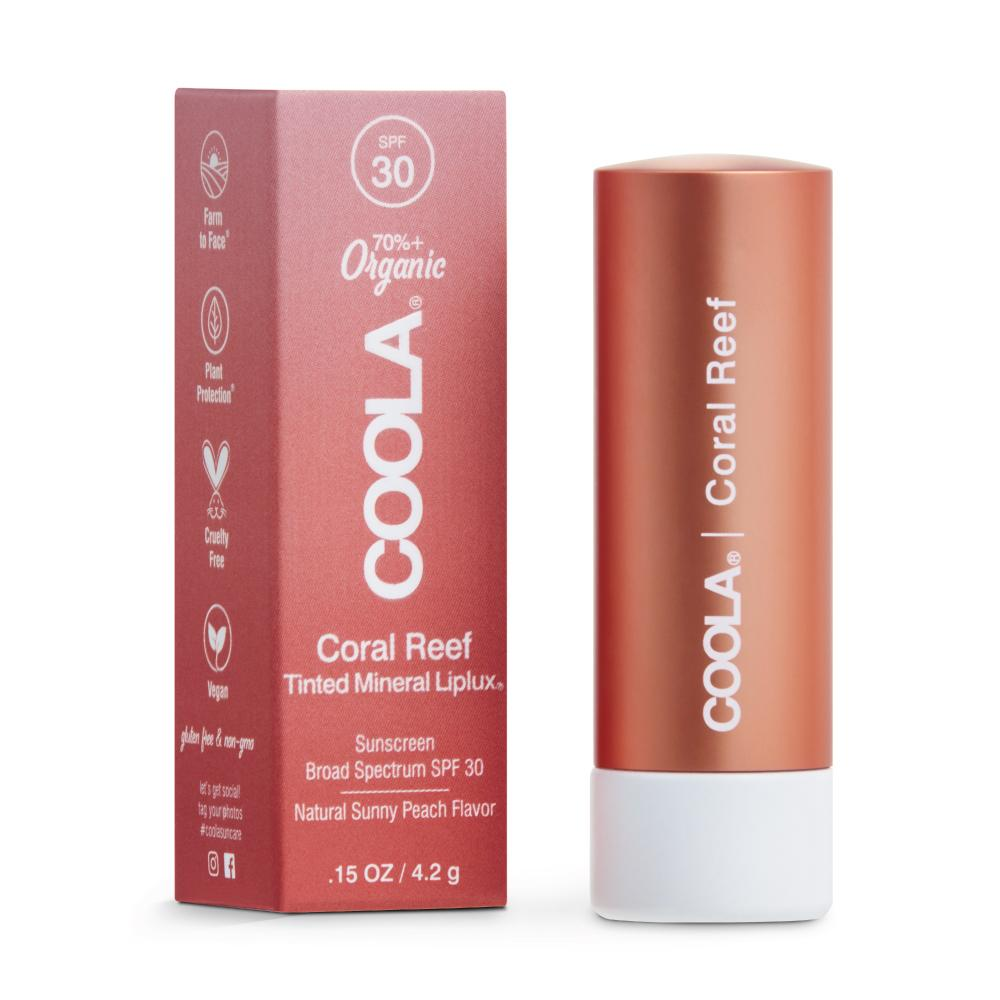 Mineral Liplux® Organic Tinted Lip Balm Sunscreen SPF 30 | COOLA