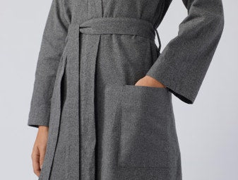 Unisex Cloud-Brushed Organic Flannel Robe