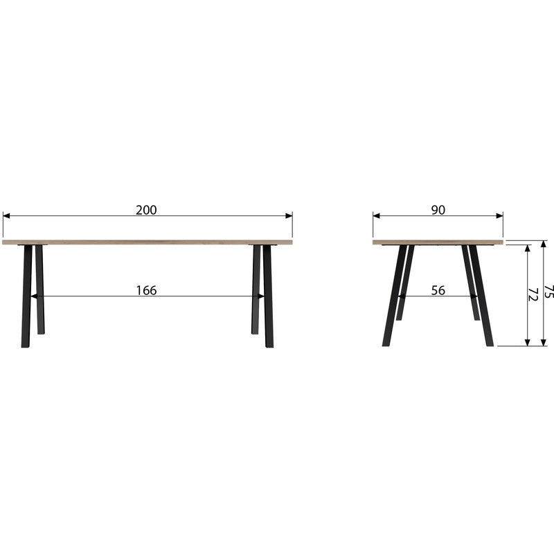 Eettafel James 200x90 | WOOOD - LETT.