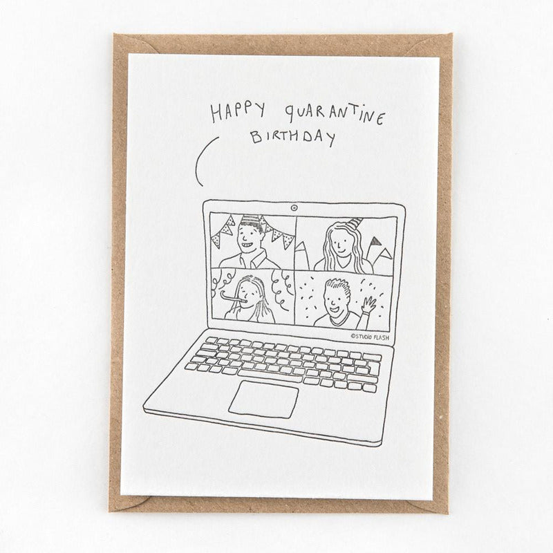 Happy quarantine birthday | postkaart | Studio Flash