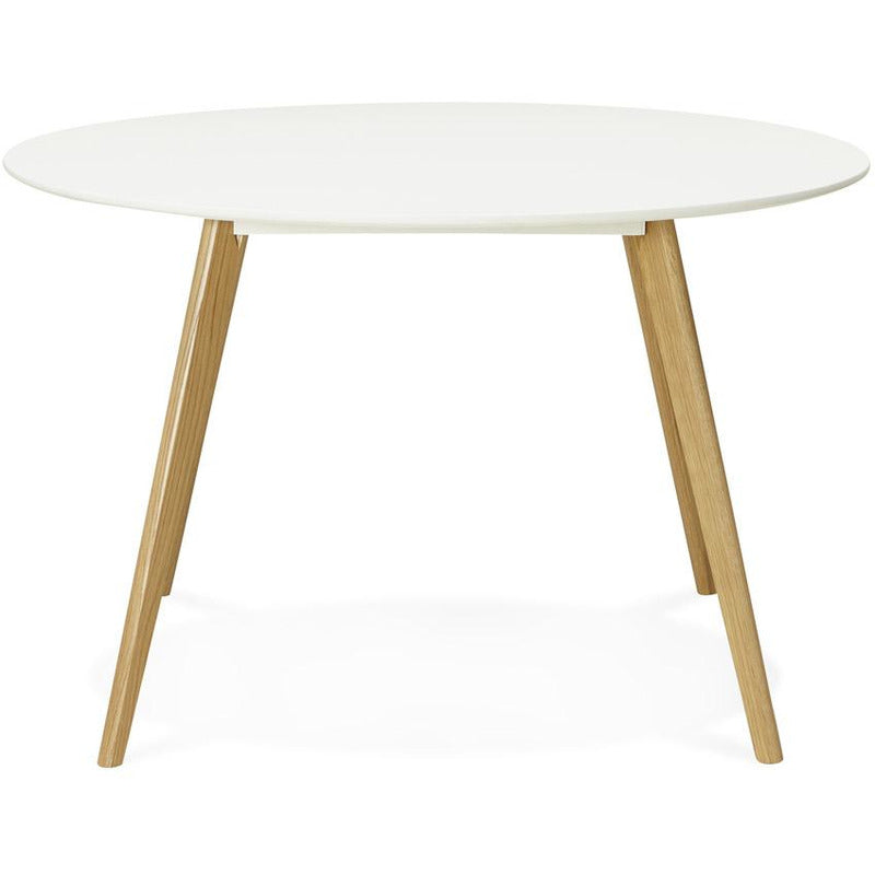 Eettafel Rond Wit/Hout
