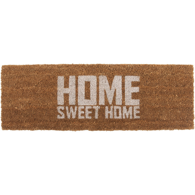 Deurmat home sweet home | wit - LETT.