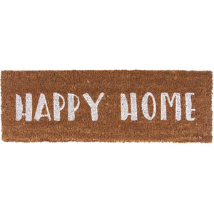 Deurmat HAPPY HOME Wit