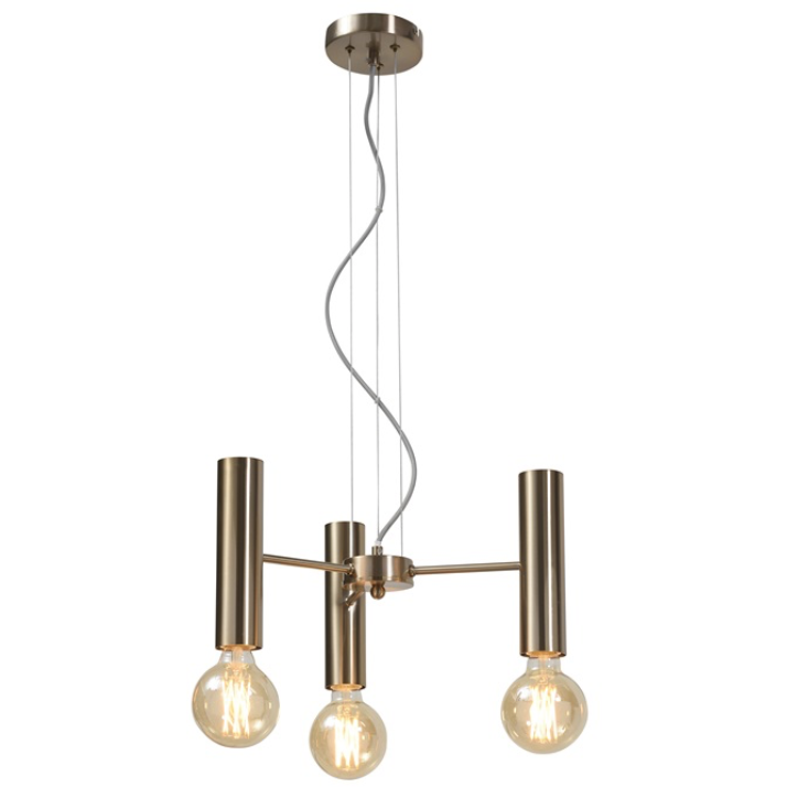 It's about Romi | hanglamp Cannes | goud | 3 lampen - LETT.