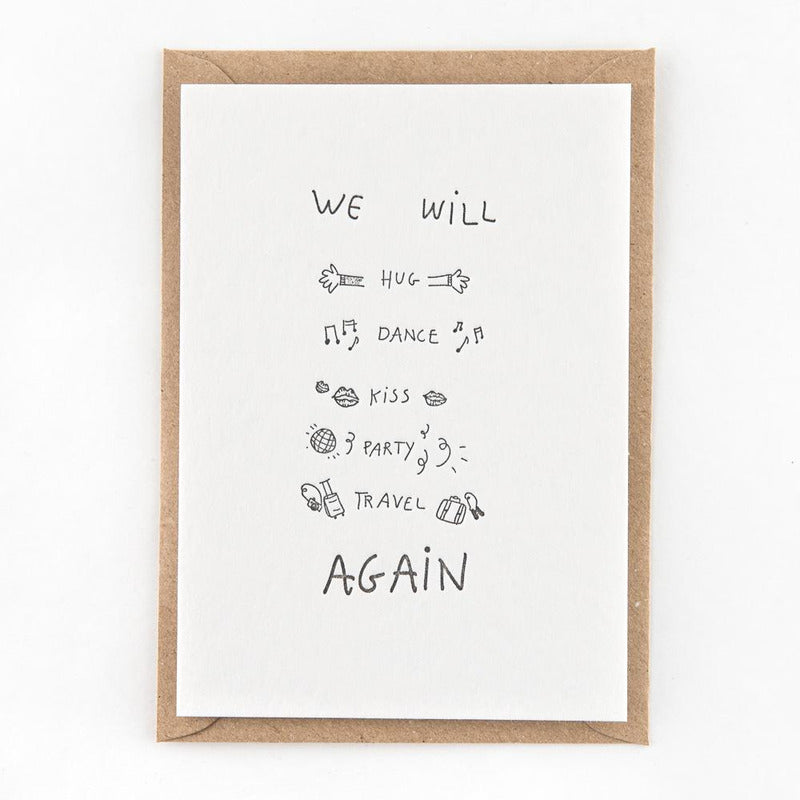 We will ... again | postkaart | Studio Flash