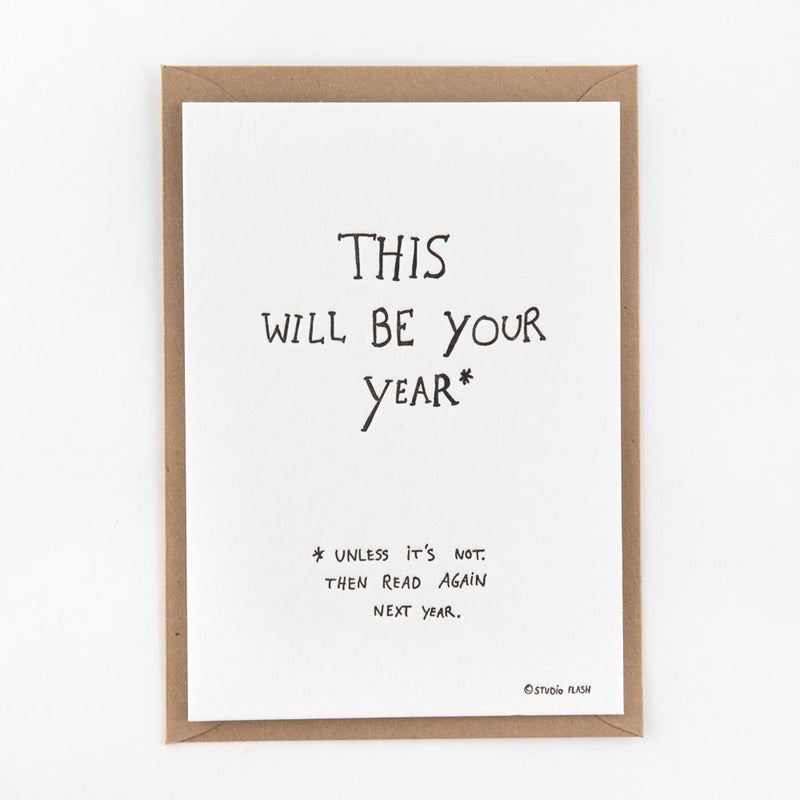 This will be your year | postkaart | Studio Flash