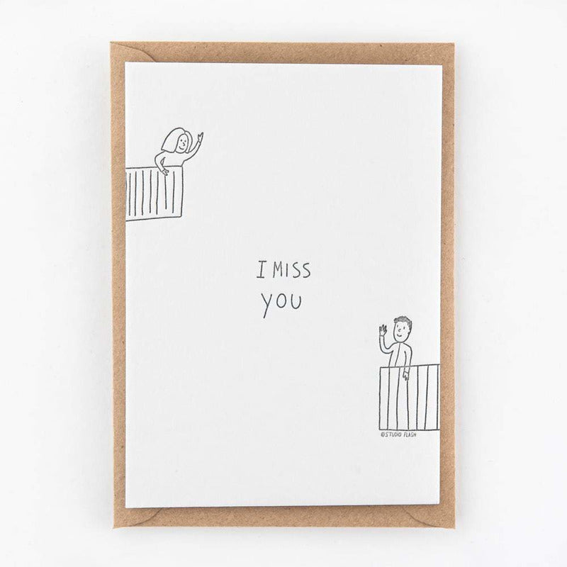 I miss you | postkaart | Studio Flash
