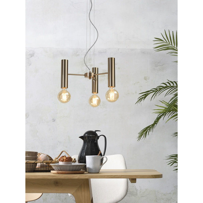 It's about Romi | hanglamp Cannes | goud | 3 lampen