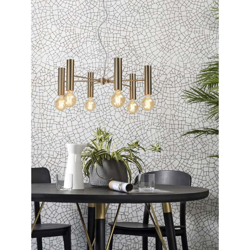 It's about Romi | hanglamp Cannes | goud | 6 lampen - LETT.