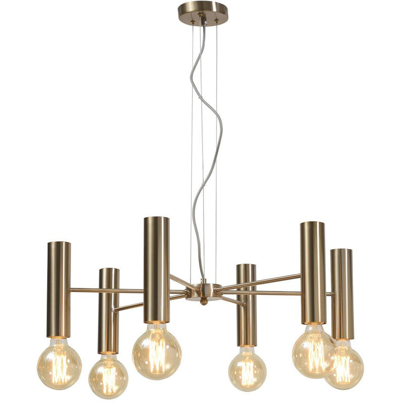 It's about Romi | 6-delige hanglamp cannes in goud