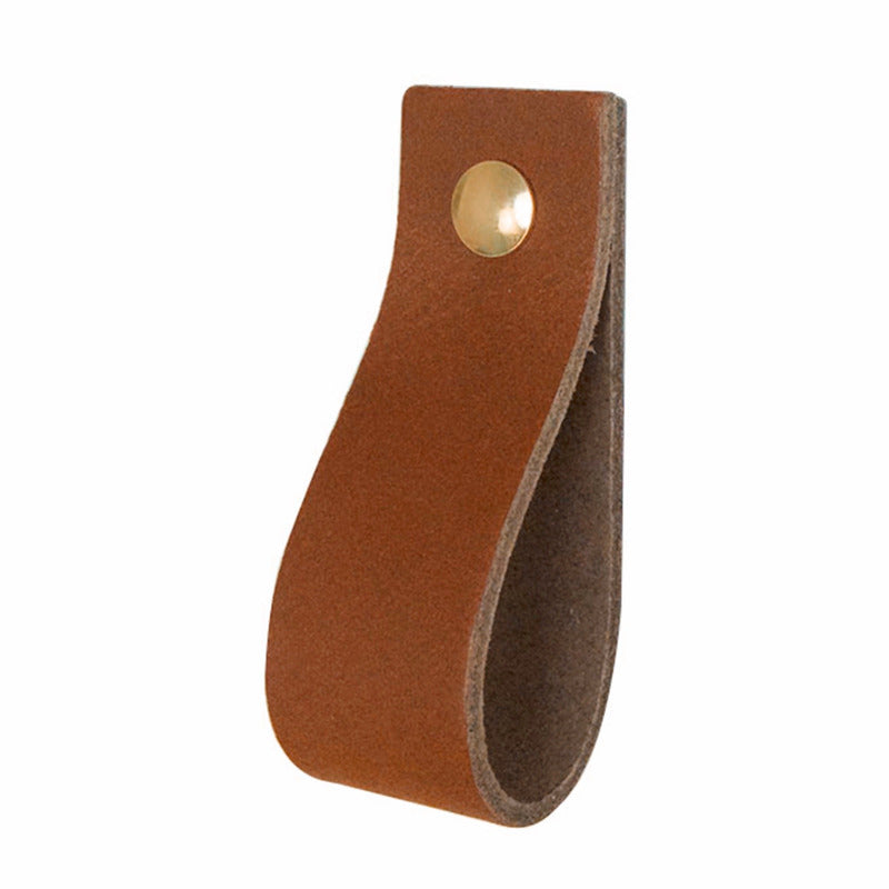 leren handgreep handles & more in cognac