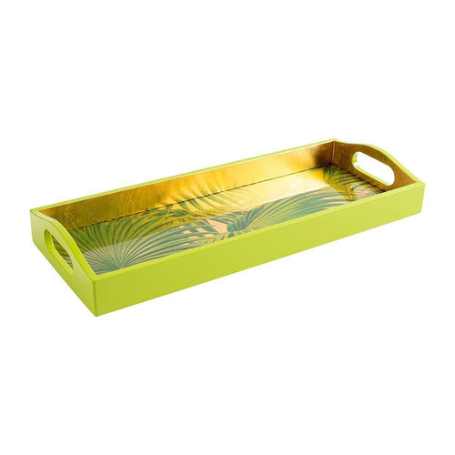 Palm Fronds Lacquer Bar Tray