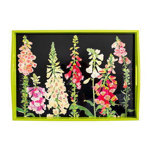 Foxglove Lacquer Large Rectangle Tray