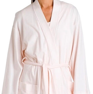 Butterknit Short Robe Plus Size Pink
