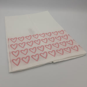 Pink Empty Hearted Tip Towels - Maisonette Shop