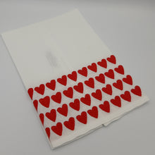 Load image into Gallery viewer, Red Full Hearted Tip Towels - Maisonette Shop