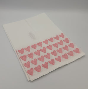 Pink Full Hearted Tip Towels - Maisonette Shop