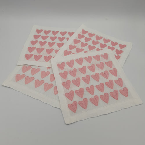 Pink Full Hearted Cocktail Napkin Set - Maisonette Shop