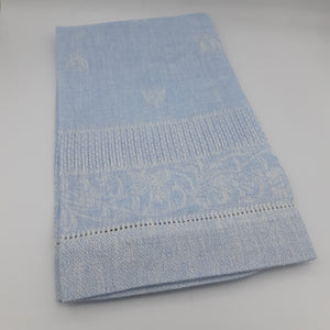 Sky Blue Bee Hand Towel - Maisonette Shop