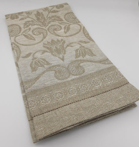 Damask Ivory Hand Towel - Maisonette Shop