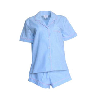 Short Blue Gingham Pajamas - Maisonette Shop