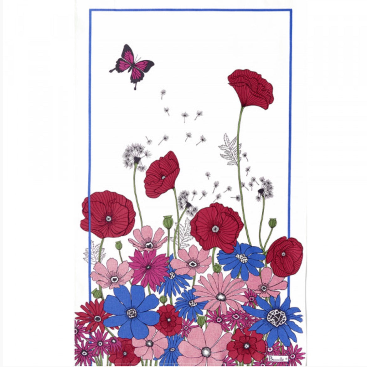 Coquelicots Tea Towel - Maisonette Shop