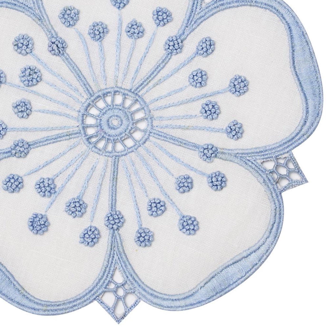 Blue & White Flower Cocktail Napkin Set - Maisonette Shop