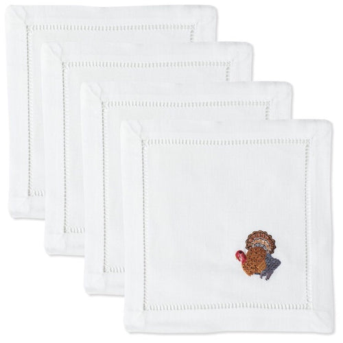 Turkey Cocktail Napkins Set