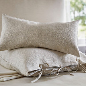 Sumi Platinum by The Purists Decorative Tie Pillows - Maisonette Shop