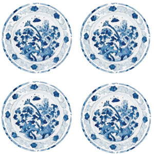 Canton Plate Watercolor Coasters - Maisonette Shop