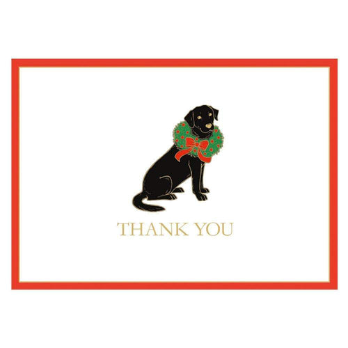 Christmas Lab Boxed Thank You Notes - 6  Note Cards & 6 Envelopes - Maisonette Shop