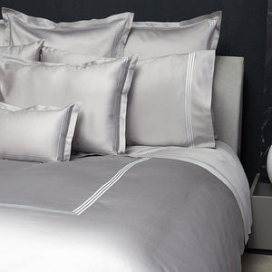 Platinum Sateen Shams by Signoria Firenze