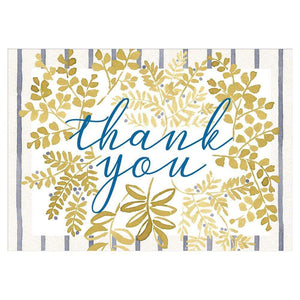 Sprigged Leaves Thank You Notes - 8 Note Cards & 8 Envelopes - Maisonette Shop