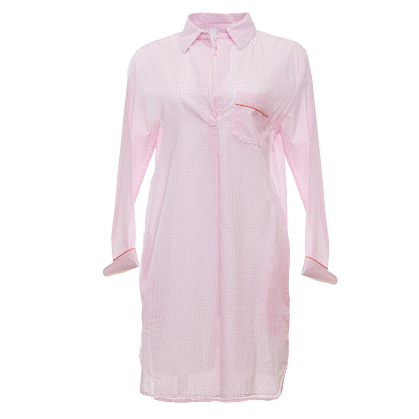 Pink Gingham Nightshirt - Maisonette Shop