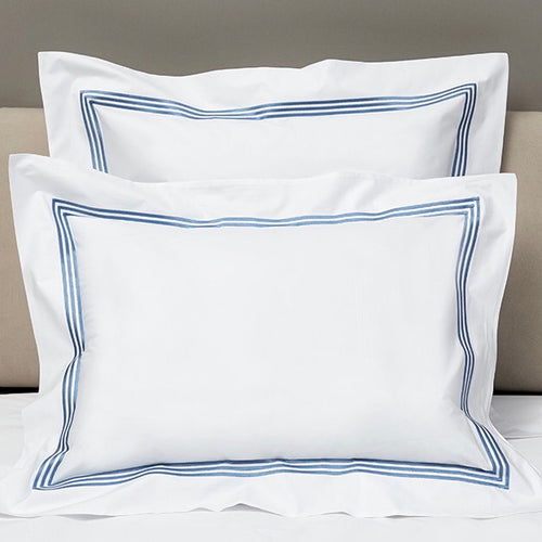 Platinum Percale Shams by Signoria Firenze