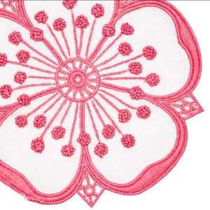 Hot Pink & White Flower Cocktail Napkin Set - Maisonette Shop