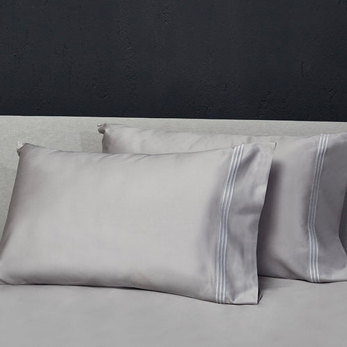 Platinum Sateen Pillowcases by Signoria Firenze