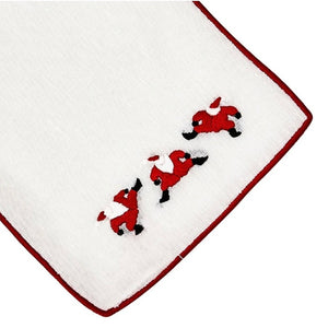 Dancing Santas Cocktail Napkin Set