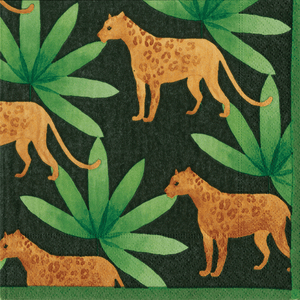 Panthera Green Boxed Paper Cocktail Napkins - Maisonette Shop